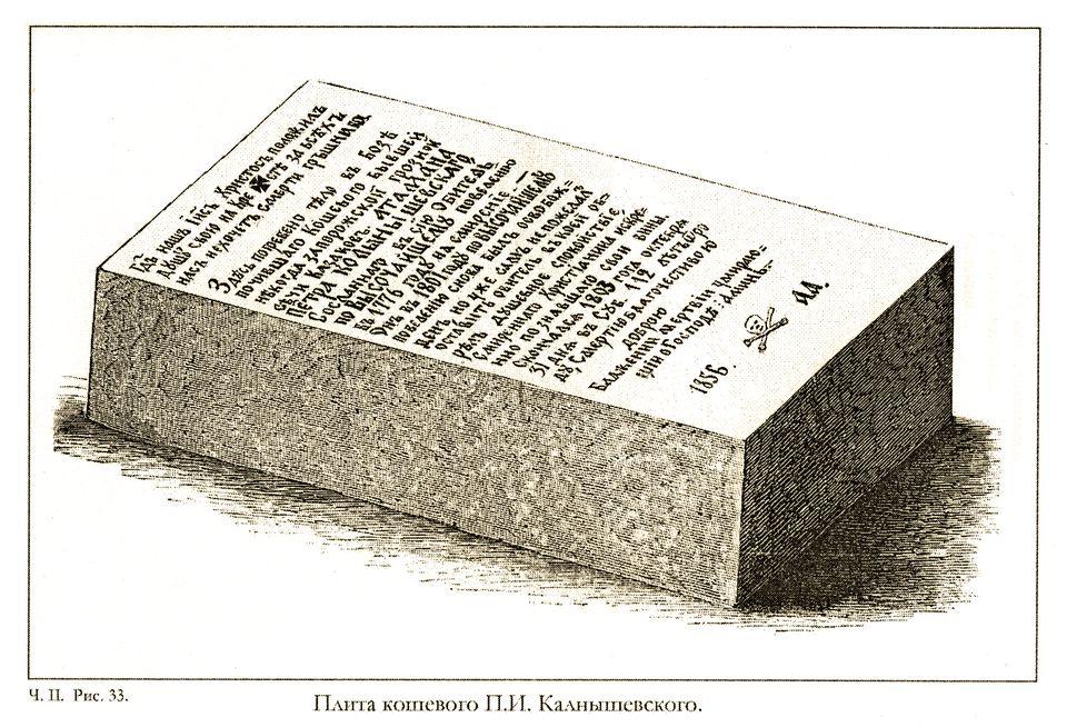 Плита кошового Петра Калнишевського