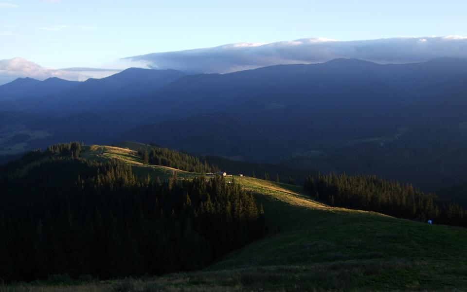 Краєвид на полонину Псарівка