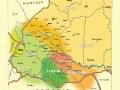 Карта історико-етнографічного районування українських Карпат